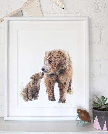 Bear Print Nursery Print Woodland animal Print State of Eden