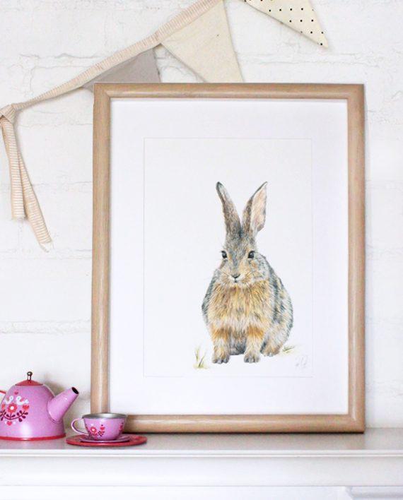 Rabbit print State of Eden Nursery print