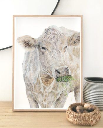 Cow print artwork, living room print artwork, bedroom print artwork.