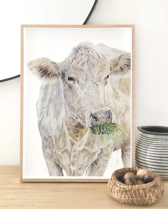 Cow print artwork, living room print artwork, bedroom print artwork.