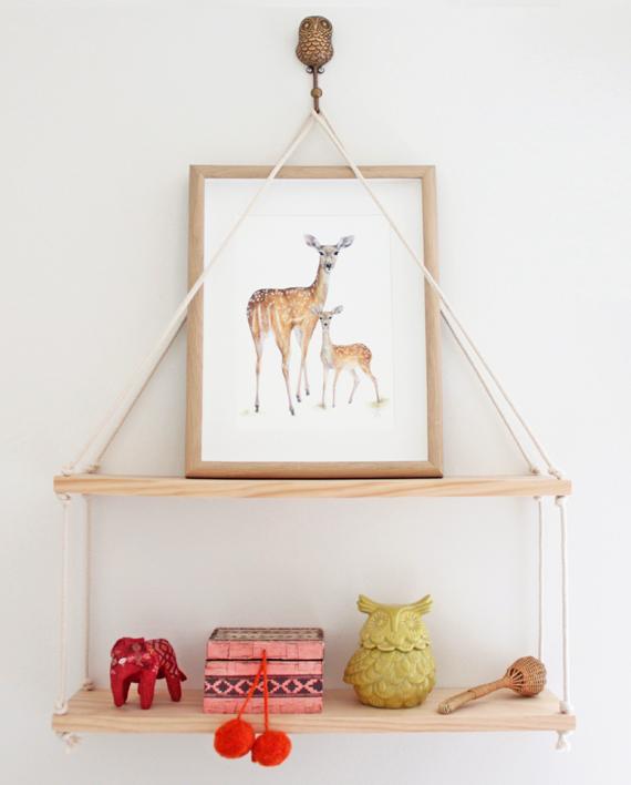 Deer print, nursery decor, children wall print