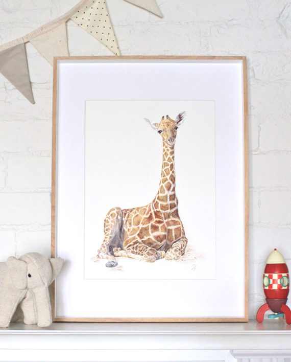 Giraffe Wall Art Nursery Print1