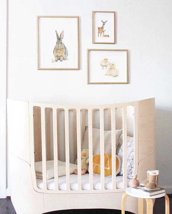 Deer mini print, Nursery print decor, children's bedroom print