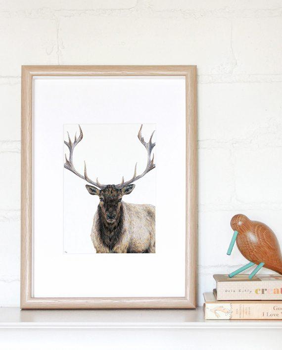 Elk Mini Print main image