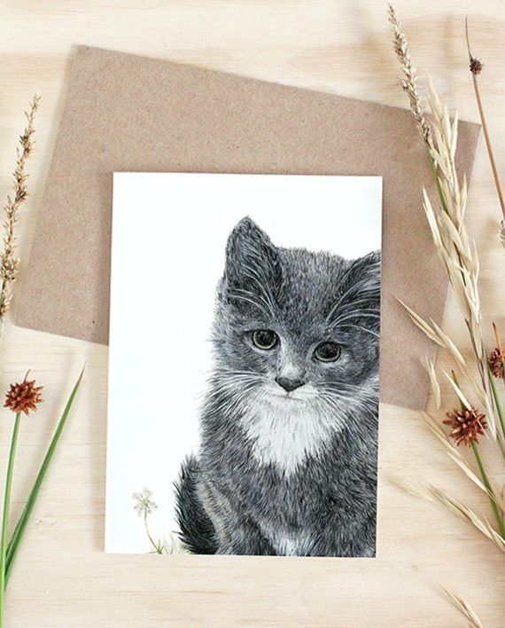 Kitten Card, Greeting card, gift card, stationery
