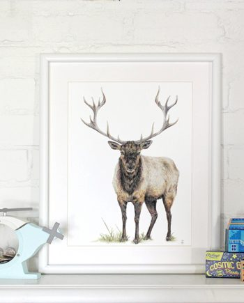 Elk print, children's bedroom decor, SoE