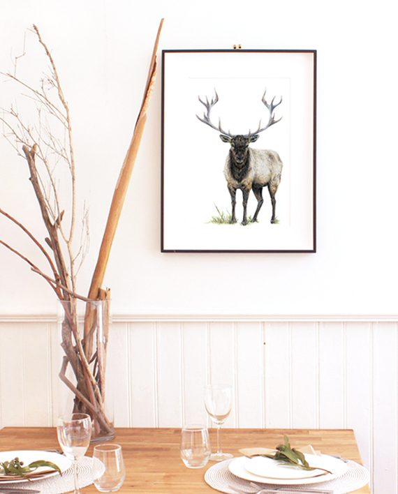 Elk print, SoE, home wall art