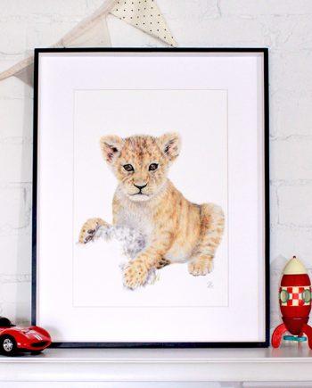 Lion cub print nursery tiger print