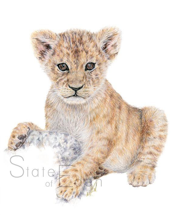 Lion Cub print artwork State of Eden