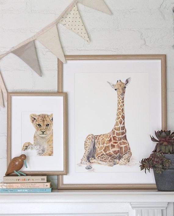 Lion cub mini print children's wall print