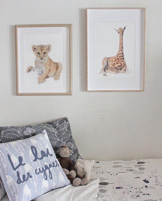 State of Eden, Nursery Lion cub print decor, wall art