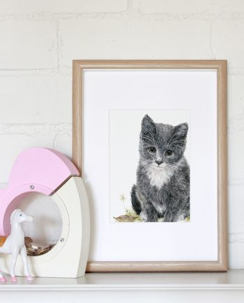 kitten mini print, children's print, nursery print, State of Eden
