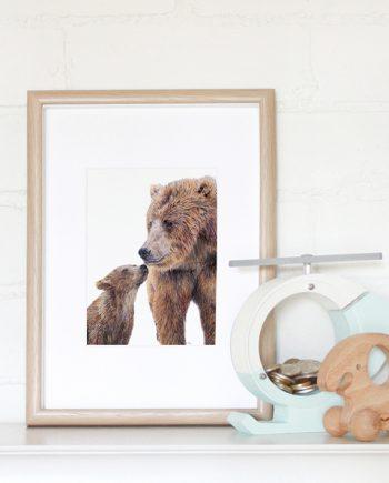 Bear mini print