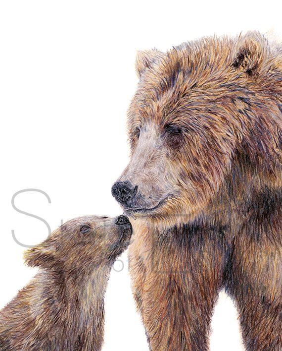 Bear Print Bear Mini Print Artwork