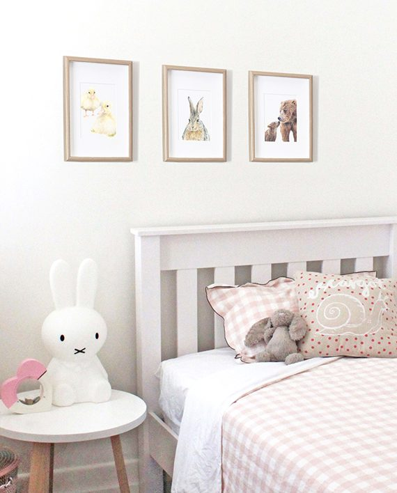 Bear mini print children's bedroom decor