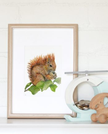 Squirrel Mini Print State of Eden