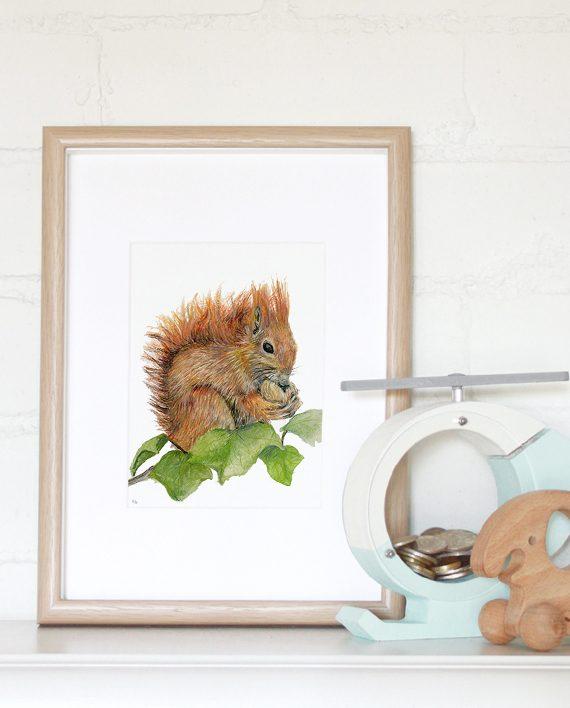 Squirrel Mini Print State of Eden