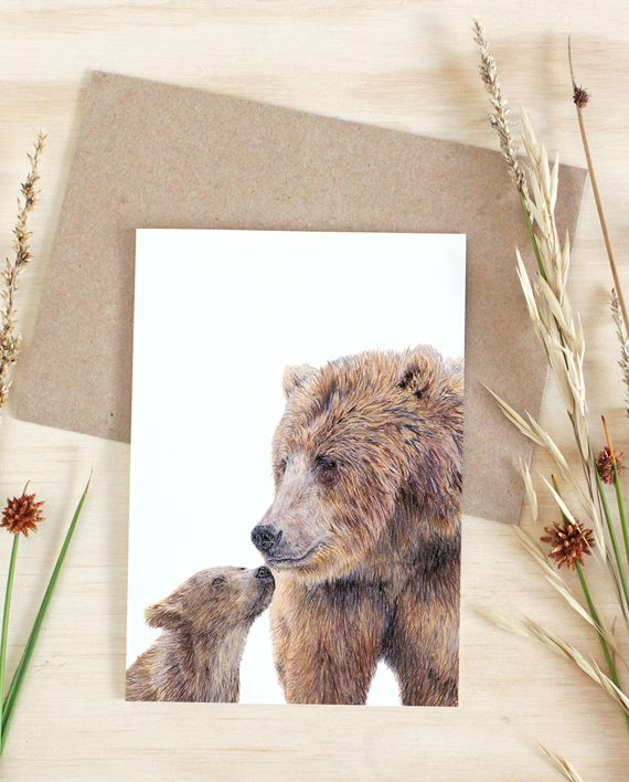 Bear Card, Happy Birthday, Mother's Day card, Father's Day card