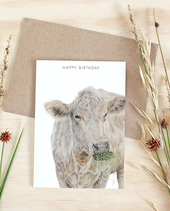 Cow Card Happy Birthday State of Eden