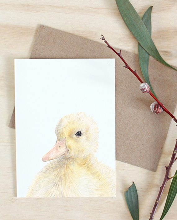 Duckling card, new baby, baby shower card