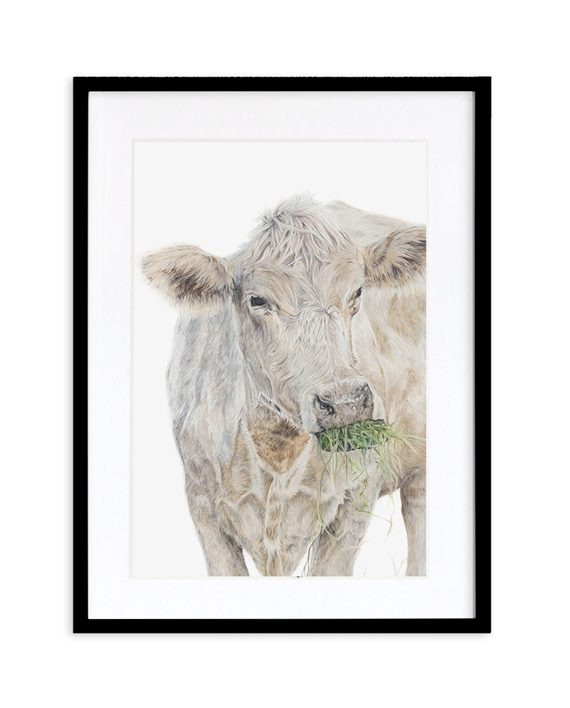 Cow Print Black Frame