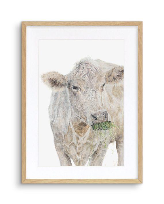 Cow Print Oak Frame