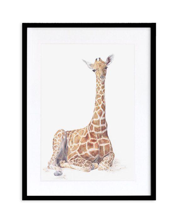 Giraffe Print Black frame