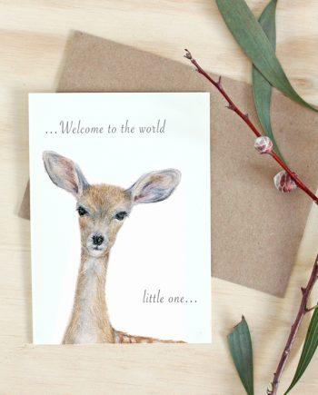 Deer Card new baby State of Eden
