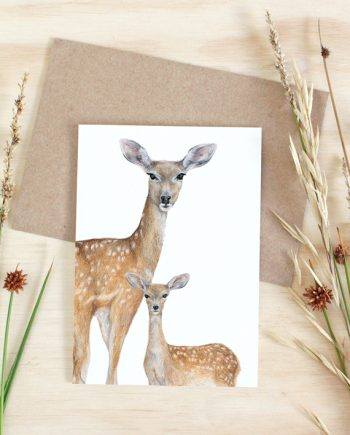 Deers Card State of Eden Fawn Fallow