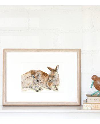 Kangaroo Mini Print State of Eden