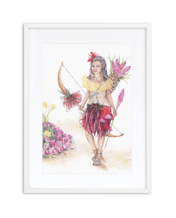 Elf Print Mythical White Frame State of Eden