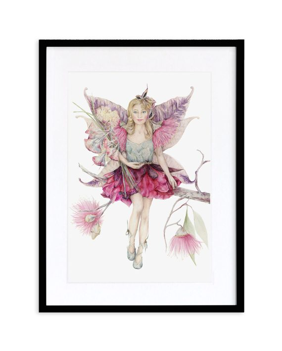 Fairy Print Mythical Black Frame State of Eden