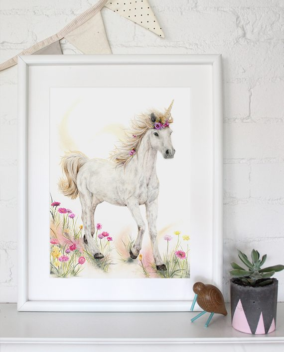 Unicorn Print Mythical Eden State of Eden