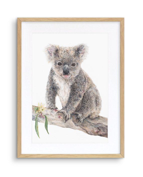 Koala Print Oak Frame State of Eden