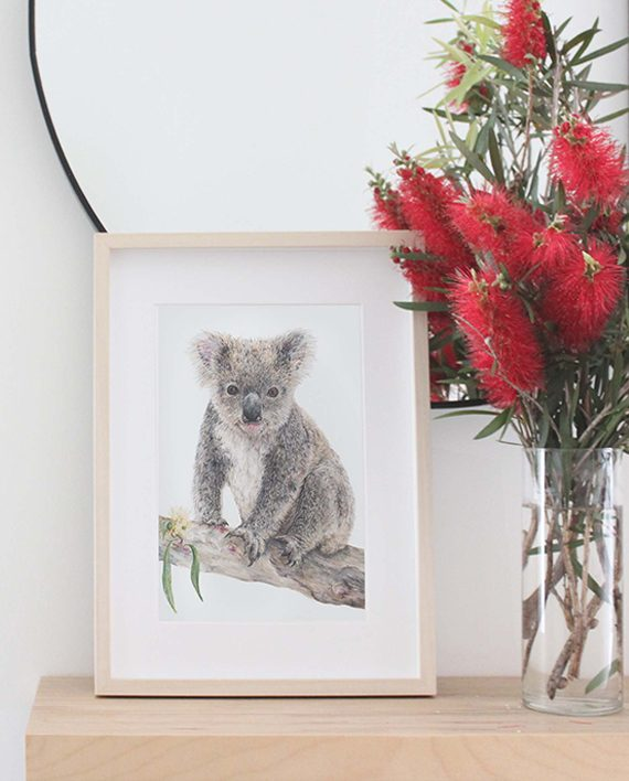 Koala Print Wall art decor State of Eden
