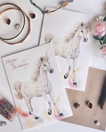 Unicorns Unicorn Card Childrens birthday State of Eden