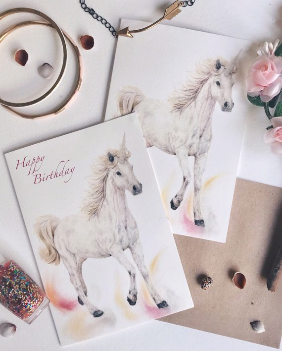 Unicorns Unicorn Card Childrens birthday State of Eden