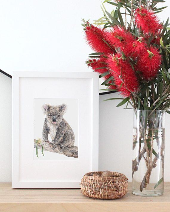 Koala Mini Print, Fine art print